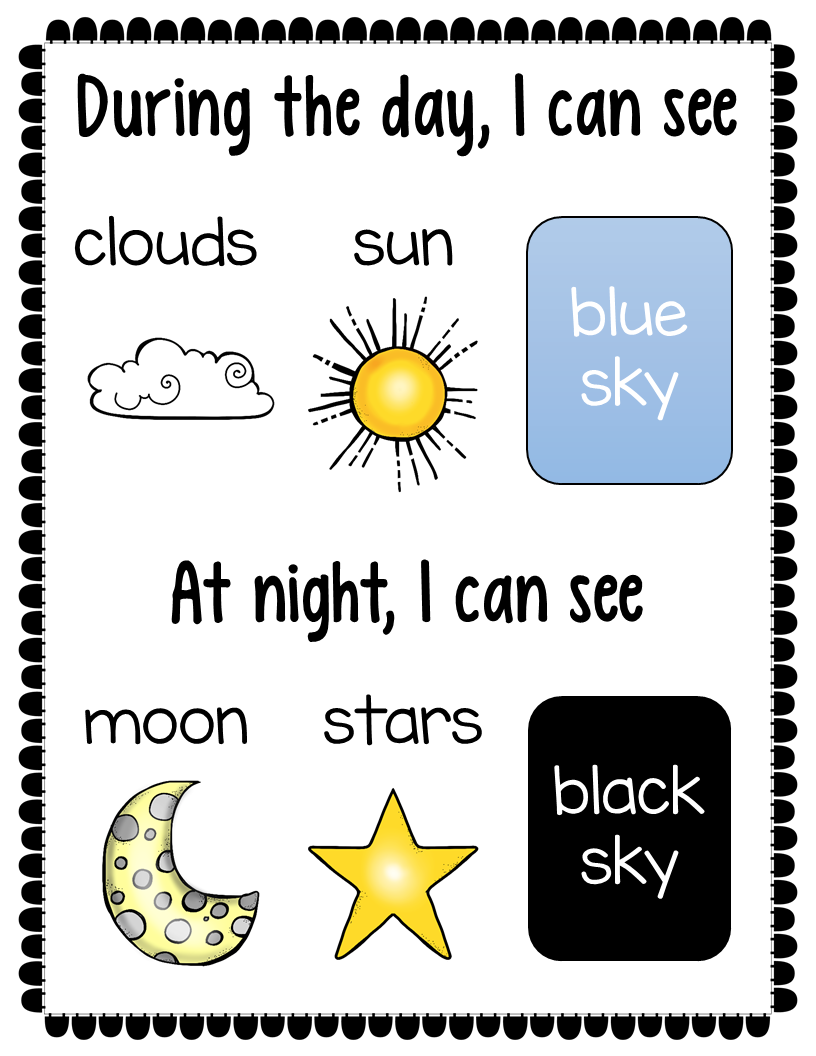 Day And Night Sorting Activity Freebie The Super Teacher