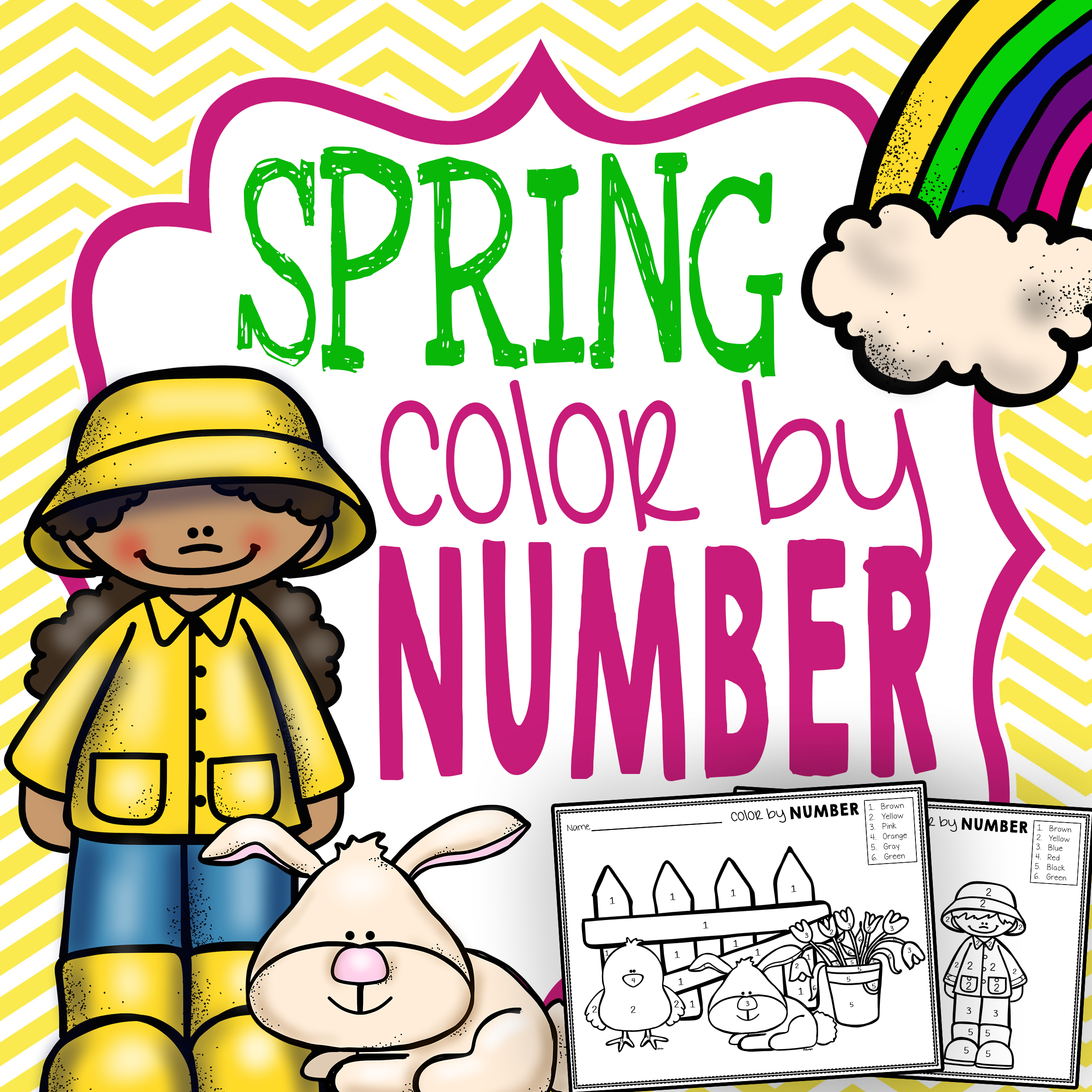 Spring Color by Number - The Super Teacher