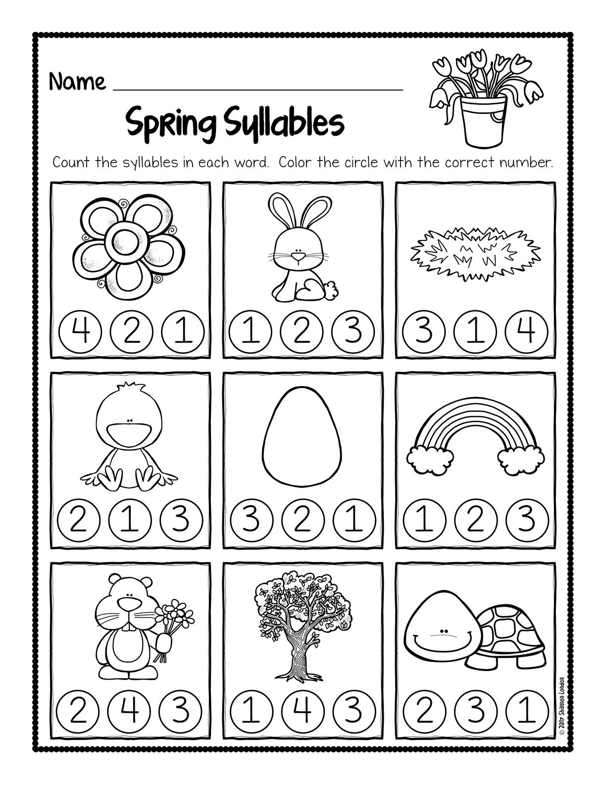 Taeacher Com Worksheets : Spring syllable worksheets unsecured the super teacher