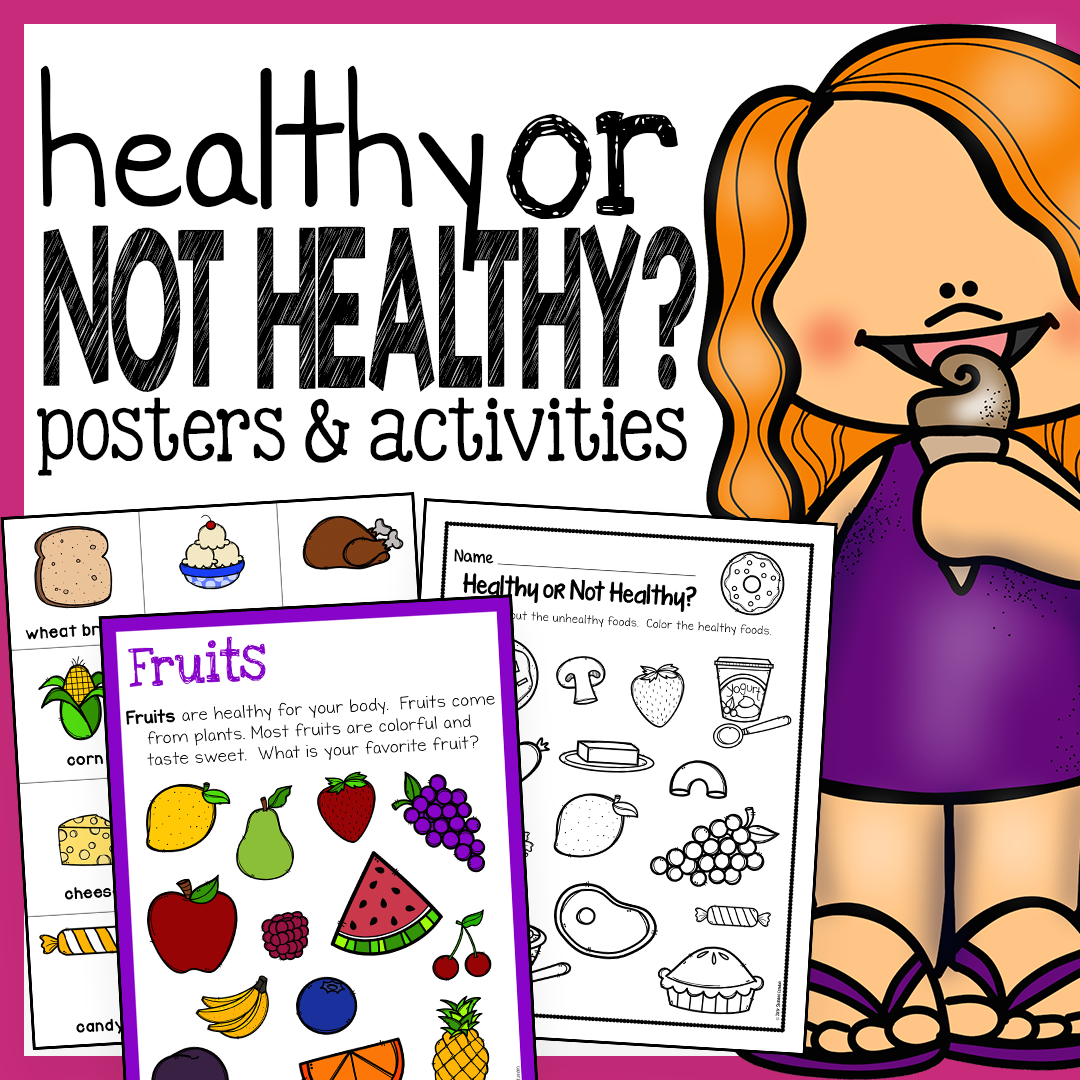 Kitchen Poster Food As Alphabet With Food Name: Healthy Foods Posters, Worksheets, And Activities