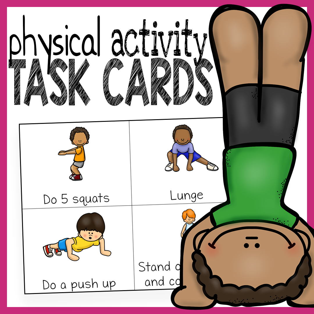 Sassy image within printable exercise cards